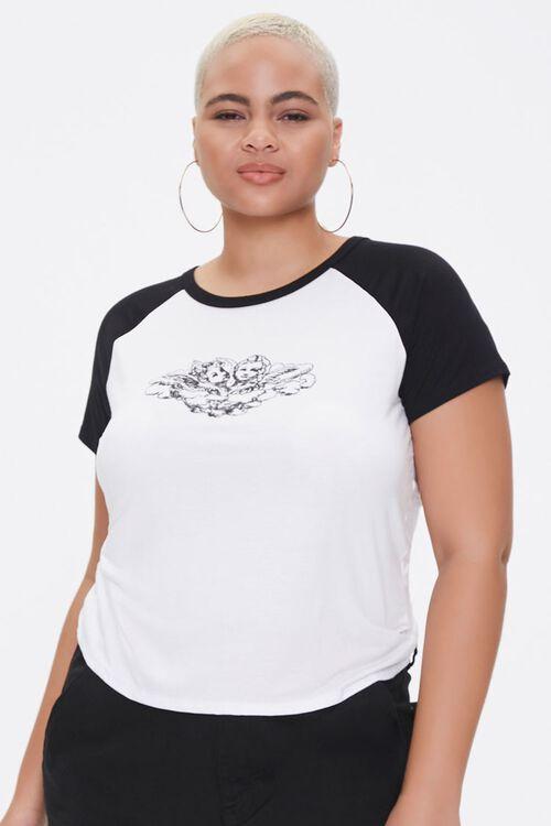 Plus Size Raglan-Sleeve Angel Tee, image 1