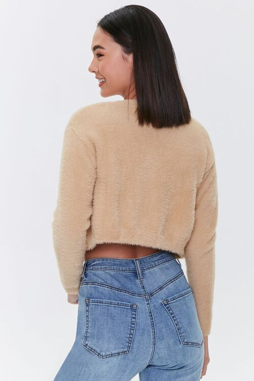 Fuzzy Cardigan Sweater, image 3
