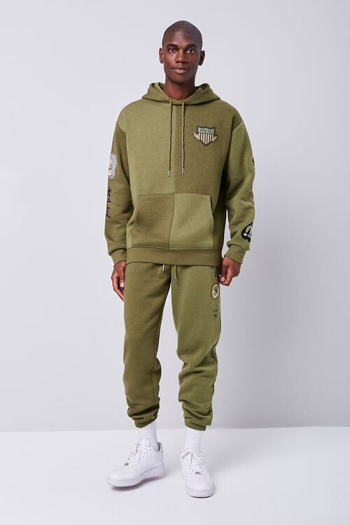 Patch Graphic Fleece Hoodie, image 4