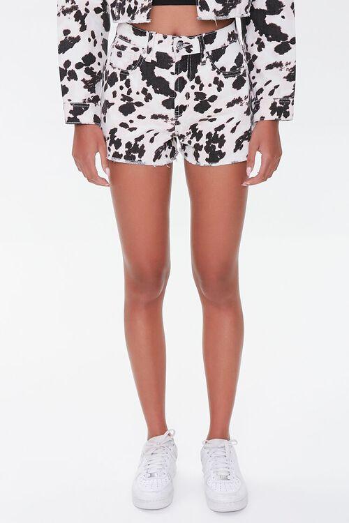 Cow Print Denim Shorts, image 2