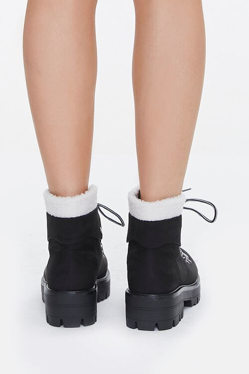 Faux Shearling-Trim Ankle Boots, image 3