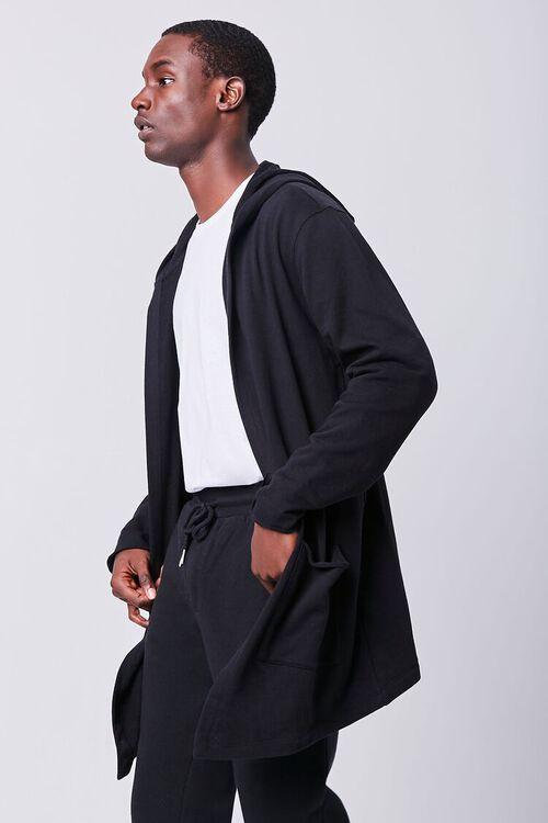 BLACK Longline Hooded Cardigan, image 2