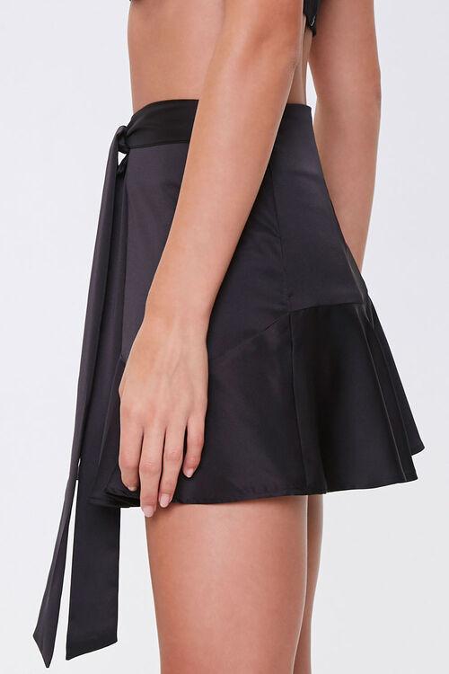 Satin Flounce Mini Skirt, image 3