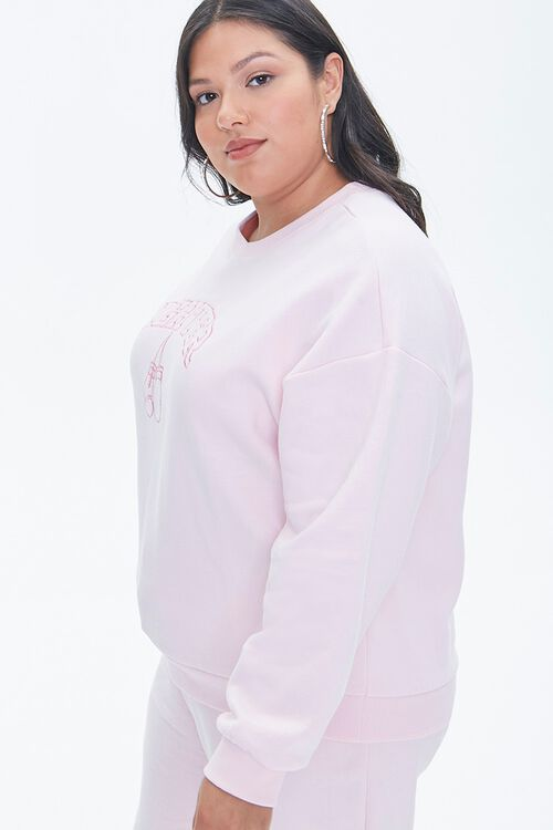 LIGHT PINK/PINK Plus Size Stand Up To Cancer Fighter Pullover, image 2