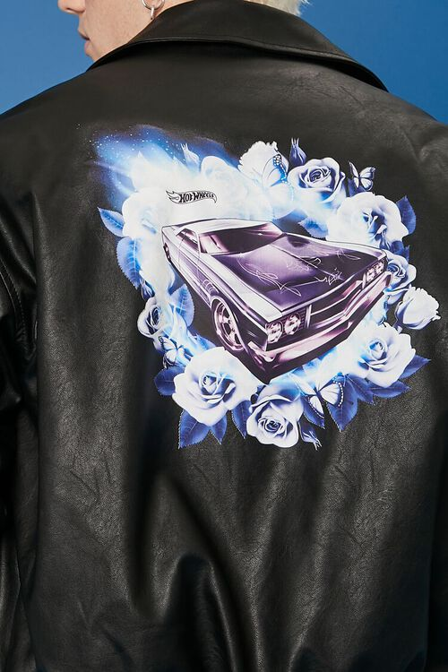 Hot Wheels Graphic Faux Leather Jacket, image 7