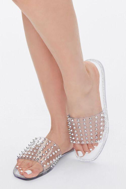 Studded Rhinestone Sandals, image 1