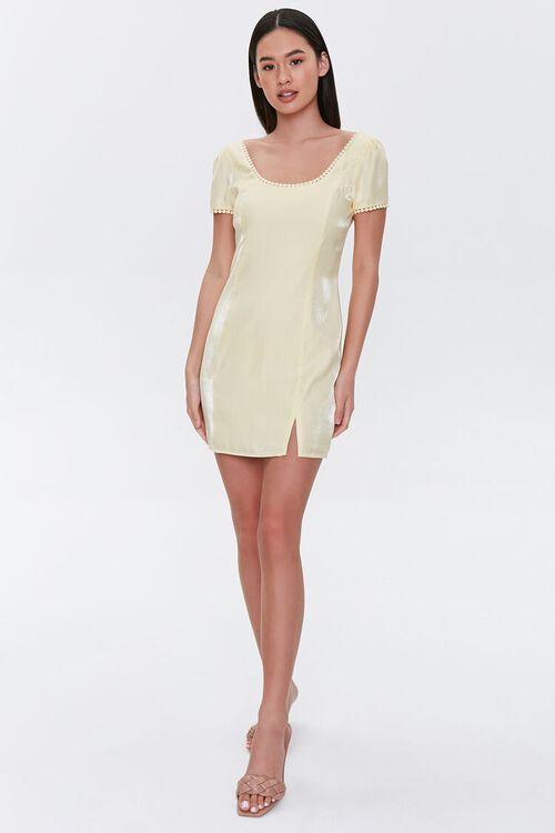 Crochet-Trim Mini Dress, image 4