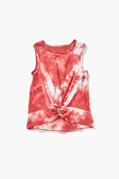 Girls Twisted Tie-Dye Tank Top (Kids), image 1