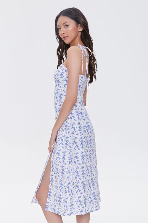 CREAM/BLUE Sweetheart Floral Dress, image 2