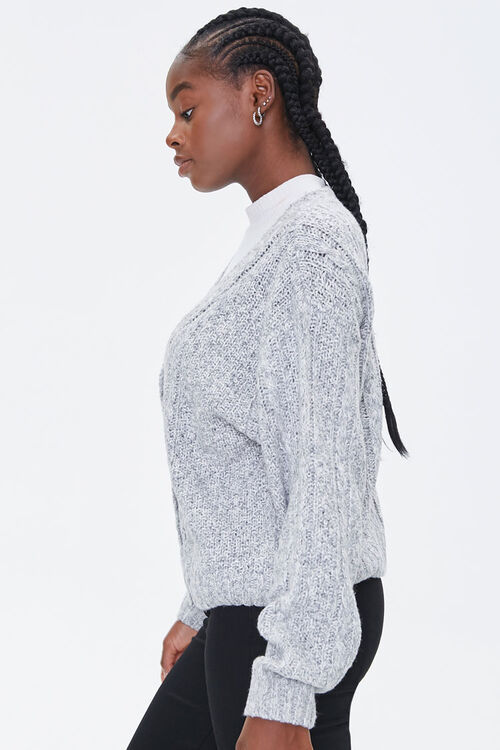 Cable Knit Button-Front Cardigan, image 2
