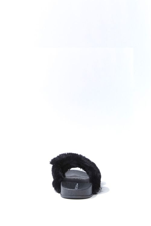 Faux Fur Dual-Strap Slippers, image 2