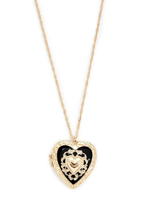 Heart Locket Rope Chain Necklace, image 1
