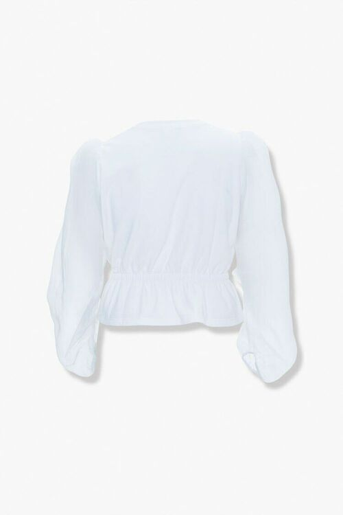 Plus Size Peasant-Sleeve Top, image 3