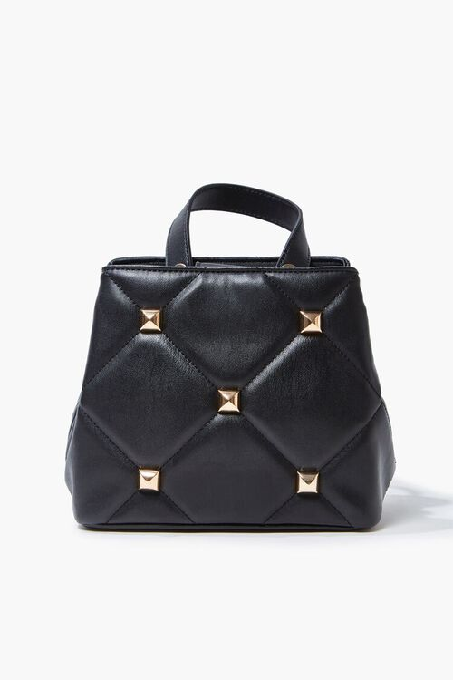 Studded Quilted Satchel, image 1