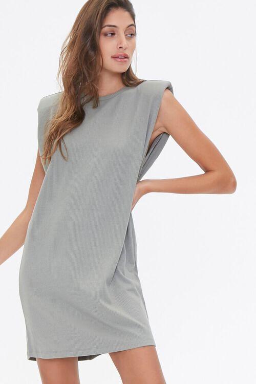 Padded T-Shirt Dress, image 1