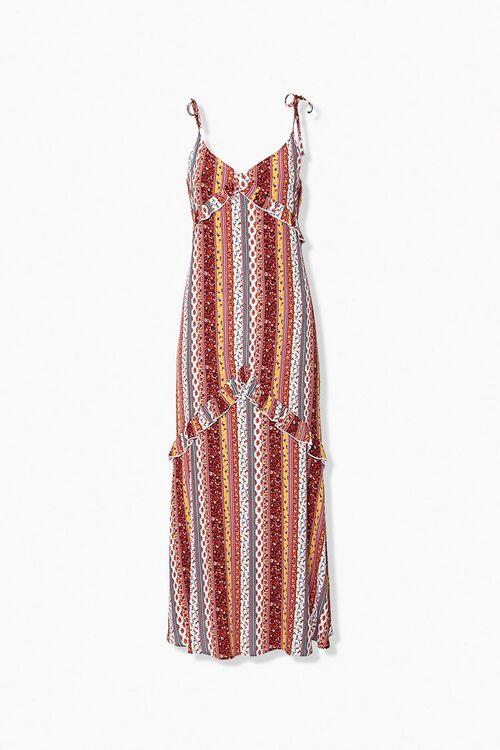Floral Ruffle Maxi Dress, image 1