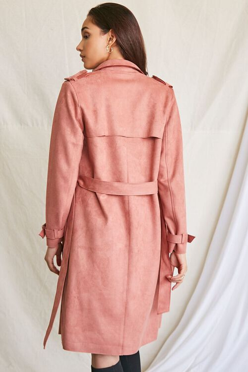 ROSE Faux Suede Duster Trench Jacket, image 3