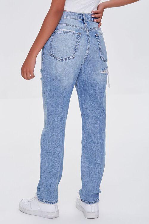 LIGHT DENIM Distressed Mom Jeans, image 4