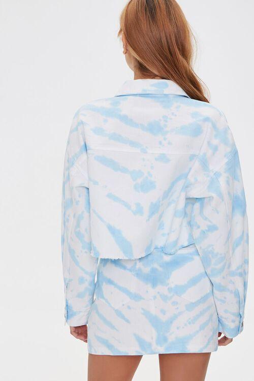 WHITE/BLUE Tie-Dye Denim Jacket, image 3