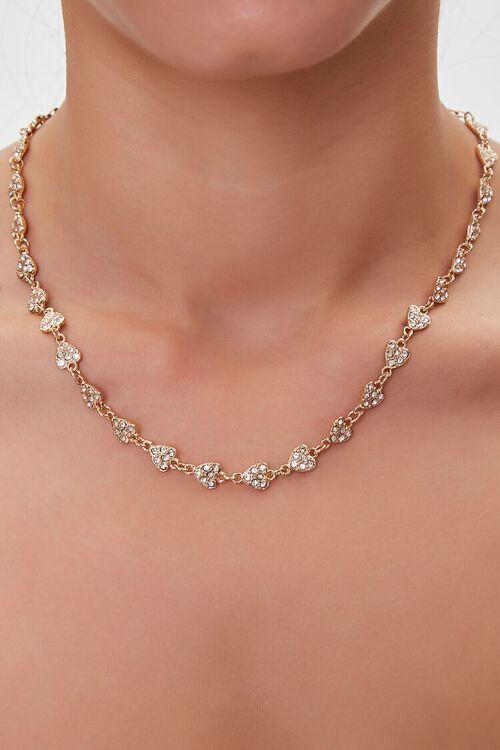 Rhinestone Charm Necklace, image 1