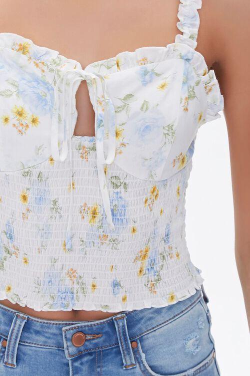 Floral Print Smocked Crop Top, image 5