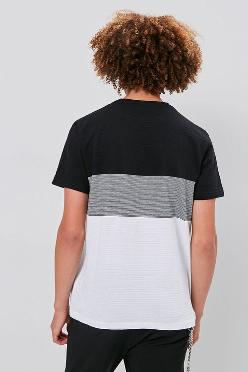 Colorblock Shadow-Striped Tee, image 3