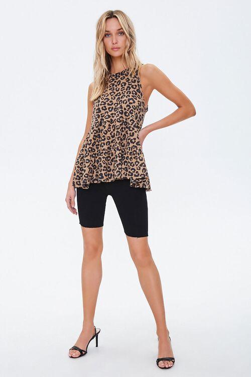 Leopard Print Flounce Tank Top, image 4
