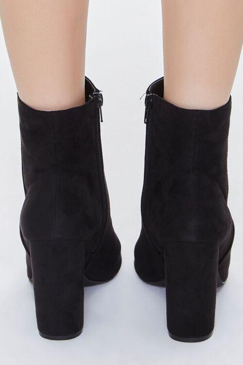 BLACK Peep-Toe Block Heel Booties, image 3