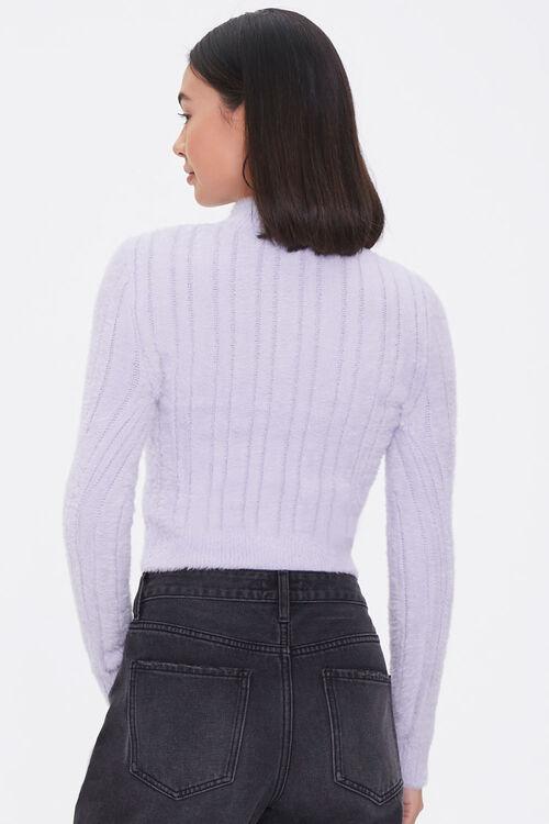Fuzzy Knit Mock Neck Top, image 3