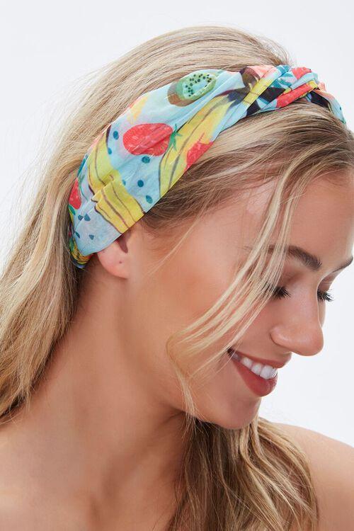 MINT/MULTI Fruit Print Twisted Headwrap, image 2
