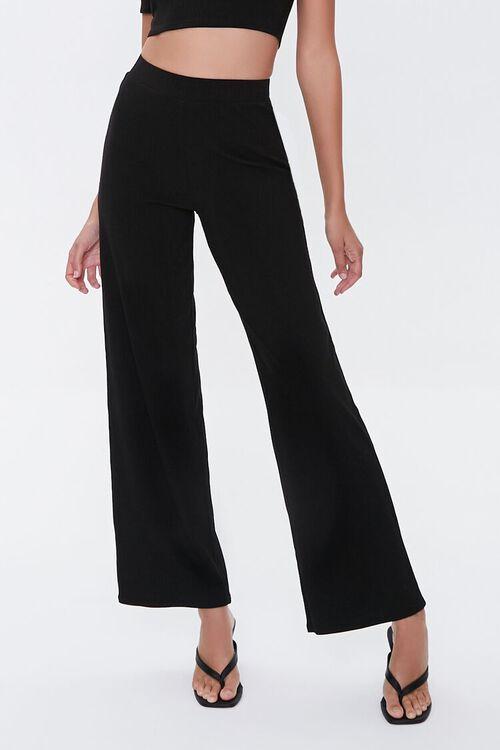 Cropped Tee & Flare Pants Set, image 5