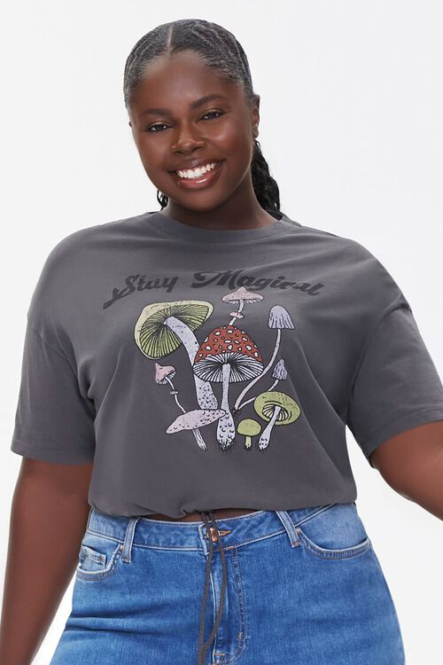 Plus Size Stay Magical Cropped Tee, image 1