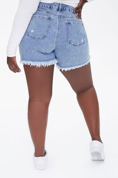 Plus Size Denim Mom Shorts, image 4