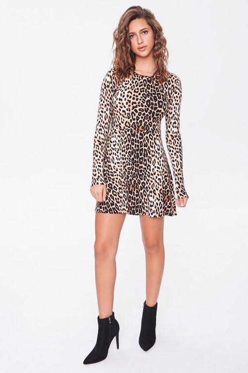 Leopard Print Skater Dress, image 4