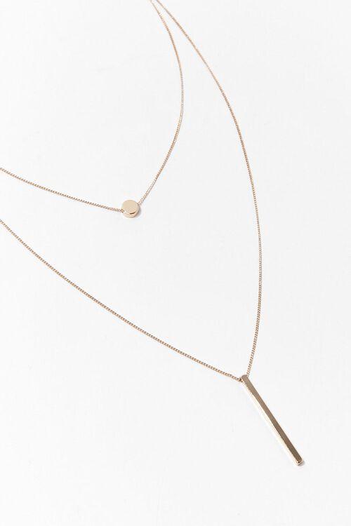 GOLD Bar Drop Layered Necklace, image 2