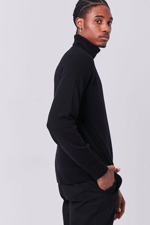 BLACK Turtleneck Raglan Sweater, image 2
