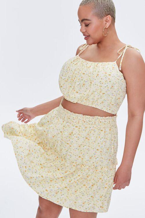 Plus Size Floral Print Mini Skirt, image 7