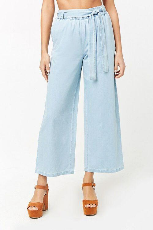 Wide-Leg Denim Pants, image 2