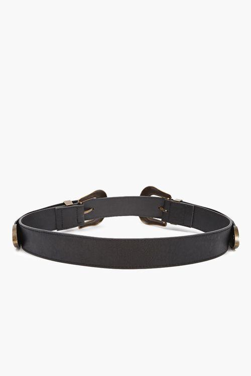 Burnished Faux Leather Belt, image 2