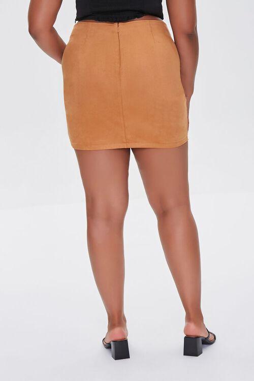 CAMEL Plus Size Tulip Mini Skirt, image 4