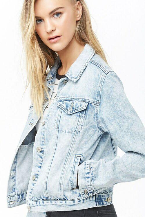 Button-Front Denim Jacket, image 1
