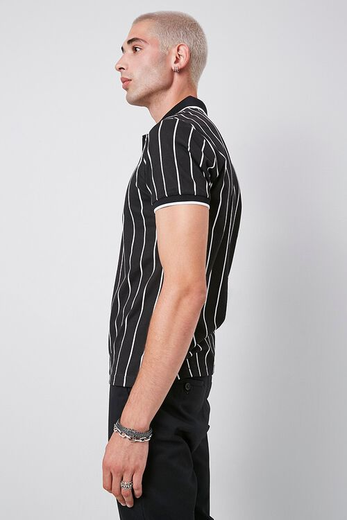 Vertical Striped Print Polo, image 2