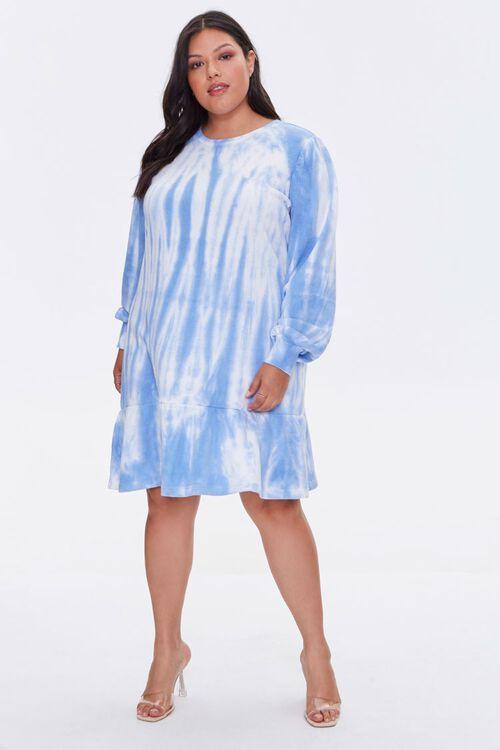 Plus Size Tie-Dye Sweatshirt Dress, image 4