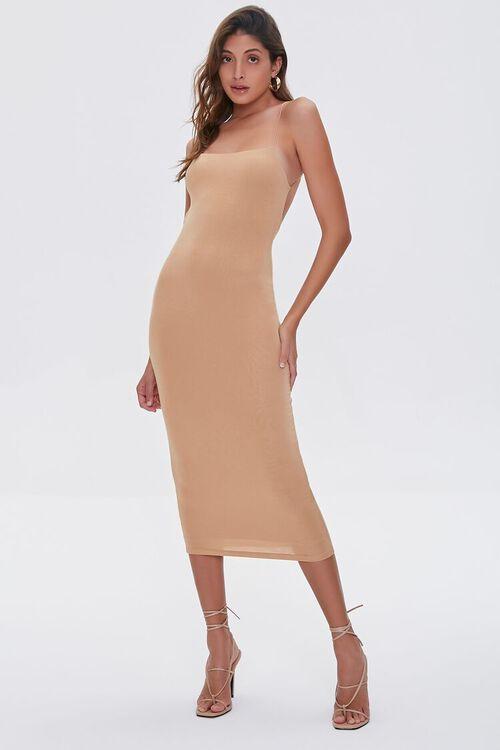 COFFEE Caged-Back Bodycon Midi Dress, image 4