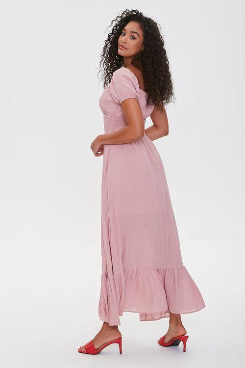 Puff-Sleeve Sweetheart Maxi Dress, image 2