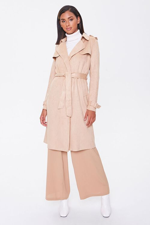 Faux Suede Duster Jacket, image 4