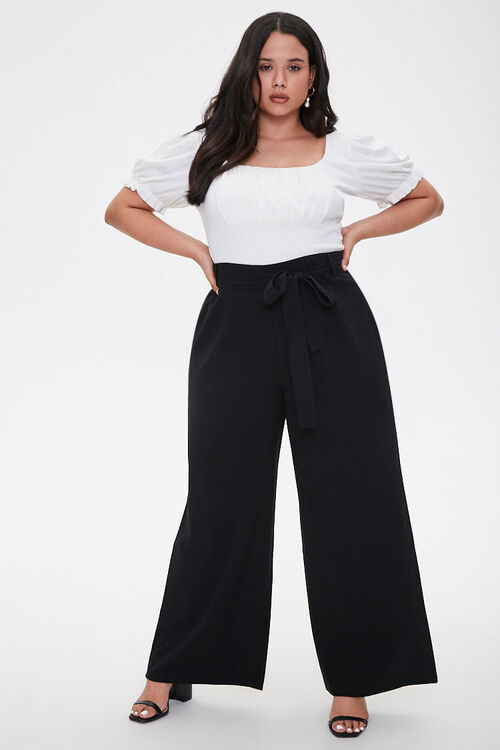 Plus Size Belted Wide-Leg Pants, image 5