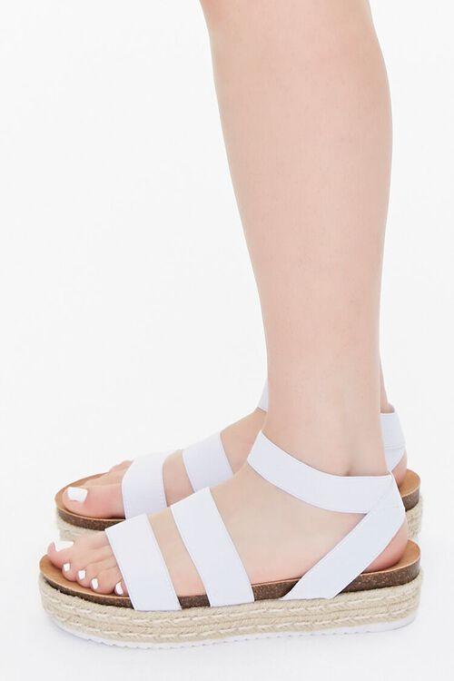 WHITE Espadrille Flatform Sandals, image 2