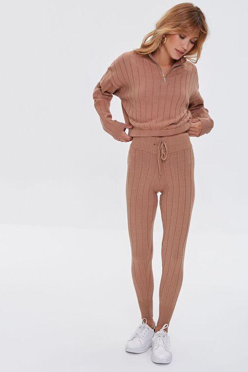Ribbed Half-Zip Sweater, image 4