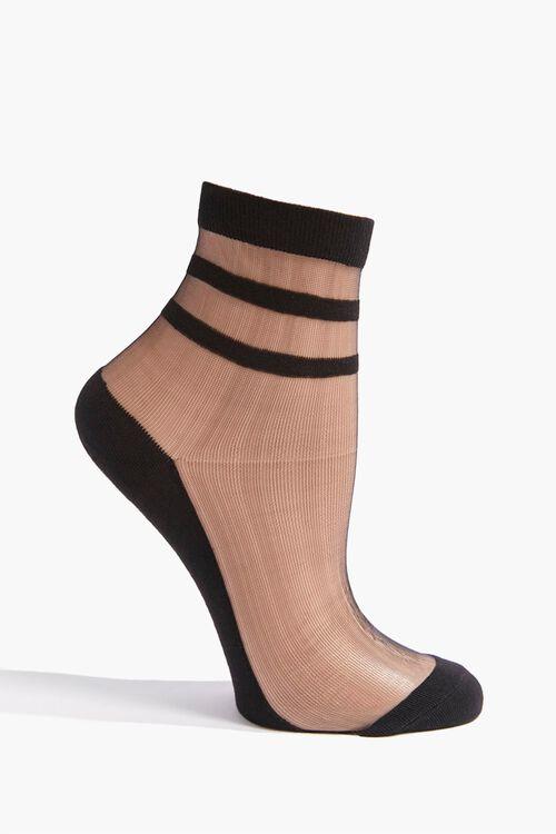 Sheer Mesh Crew Socks, image 1
